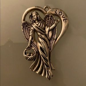 Silver Plated Angel Pendant